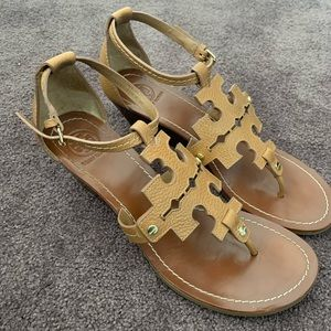 Tory Burch chandler leather wedge sandals